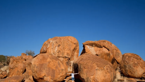 Devils Marbles, Red Centre Honey Moon, Open Sky Touring