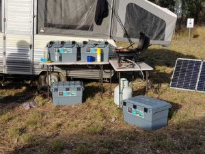 caravaning with the expedition 134 camping storage boxes