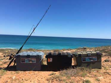 expedition camping storage boxes fishing ningaloo coast