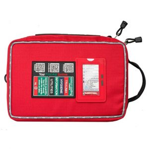 Survival Workplace First Aid Kit from above front HR Open Sky Touring