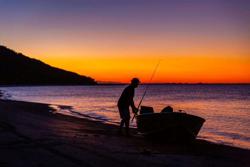 Cape York Camping sunset fishing Open Sky Touring