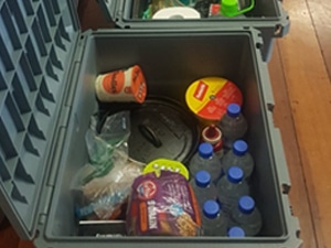 Packing Avo with camping storage box Open Sky Touring
