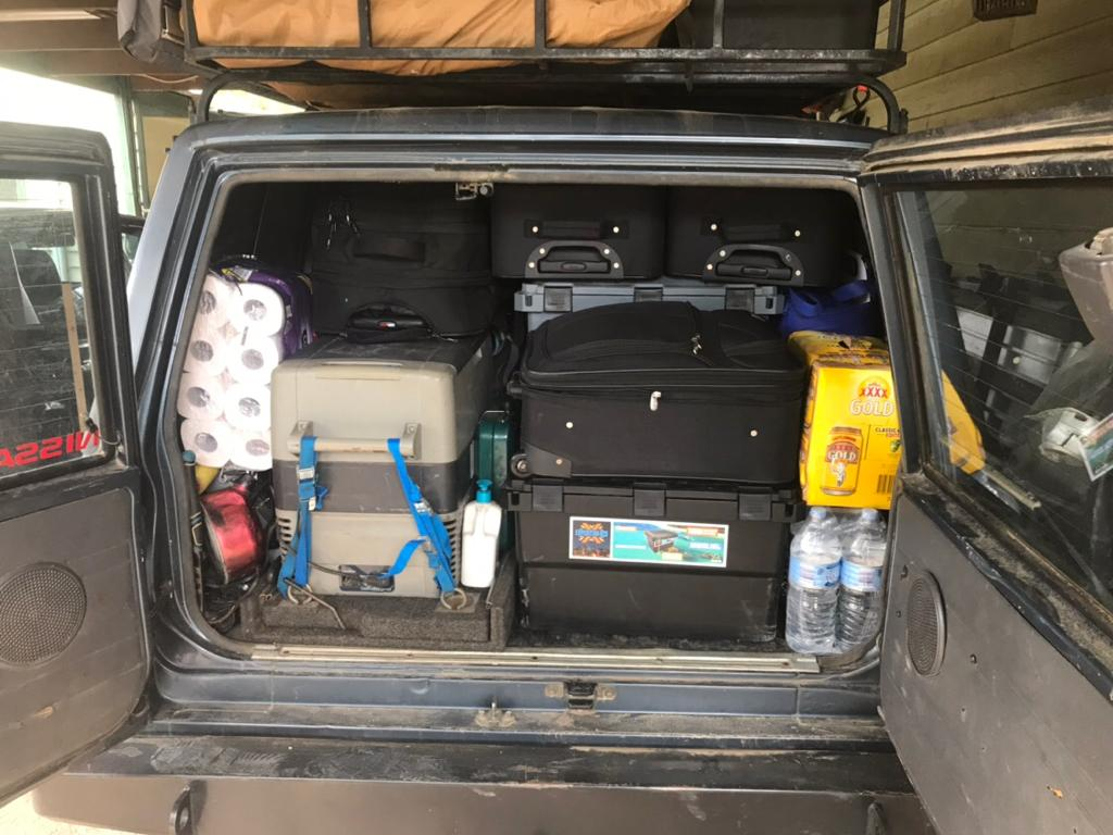 Rear of Wagon with camping storage boxes - AB Open Sky Touring