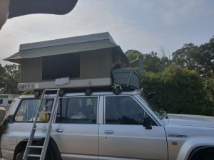 Roof Rack 2 with camping storage boxes - Matfew