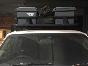 Roof Rack 4 - MB with camping storage boxes