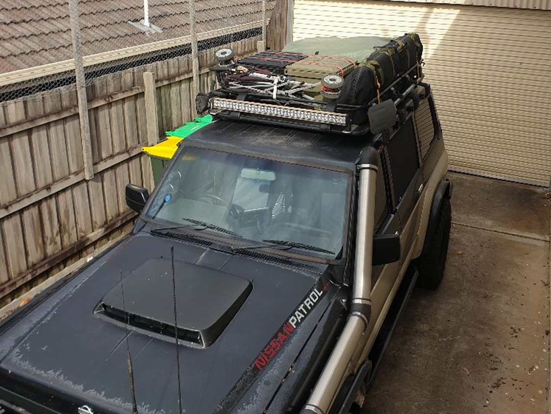 Roof Rack Winnie with camping storage boxes Open Sky Touring