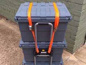 camping storage boxes on a Trolley Open Sky Touring