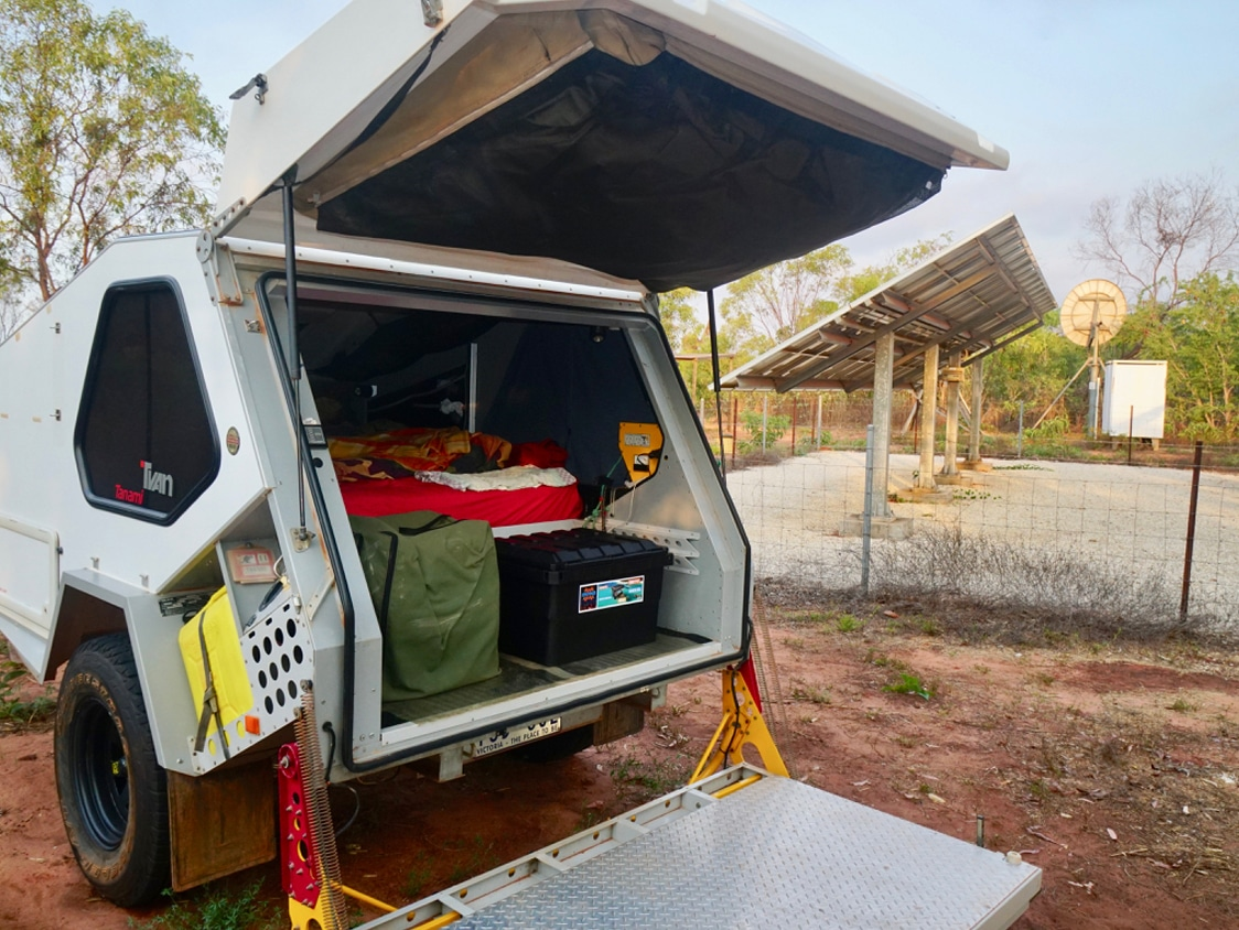 Tvan - Cuppa with camping storage box Open Sky Touring